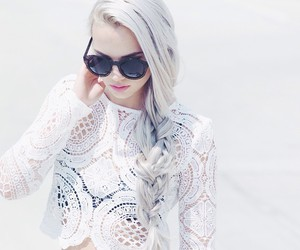 hair, white, and outfit image