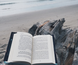 book, sea, and read image