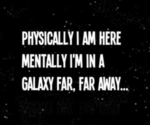 quotes, galaxy, and star wars image