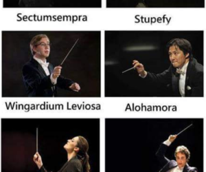 harry potter, spell, and funny image
