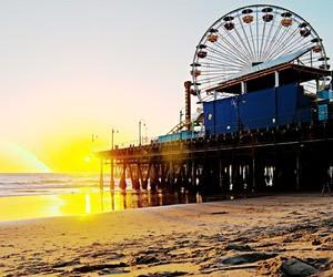 america, beach, and cali image