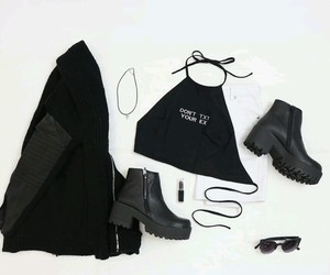 accessories, black, and clothes image