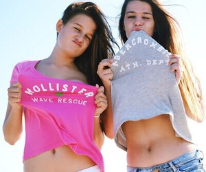 best friends, hollister, and abercrombie and fitch image