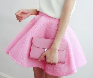 pink, fashion, and skirt image