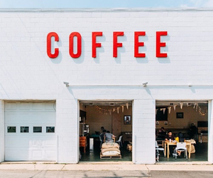 coffee, red, and white image