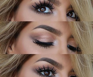 eyes, makeup, and girl image