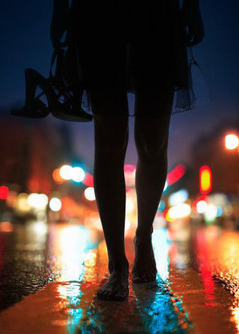 girl, night, and walking image