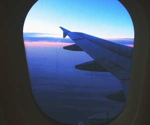 sky, plane, and travel image