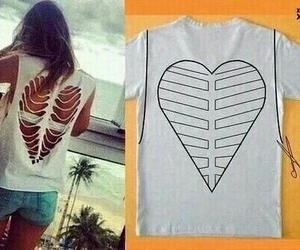 diy, heart, and shirt image