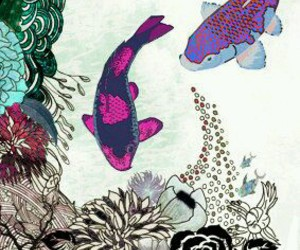 japanese art and koi fish image