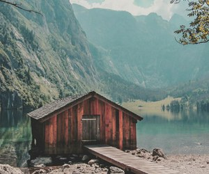 nature, house, and mountains image