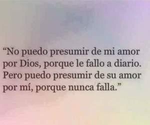 dios, presumir, and amor image