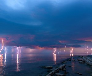 storm and lightning image