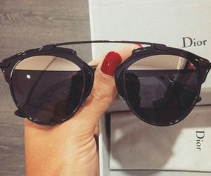 black, dior, and sunglasses image
