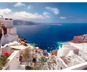 Greece, sea, and santorini image