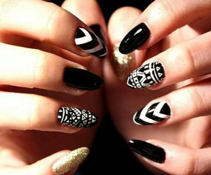 black, fashion, and nail art image