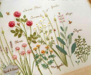 flowers, plants, and needle work image