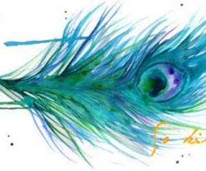 banner, blue, and feather image