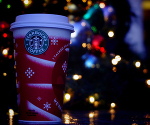 starbucks, winter, and christmas image