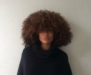 Afro, curly hair, and face image