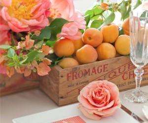 flowers, orange, and pink image
