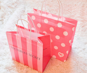 pink, Victoria's Secret, and shopping image