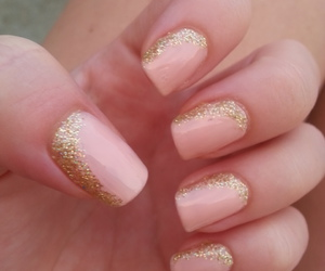 gold, manicure, and nails image