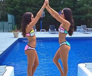 pool and best friends image