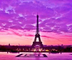 paris, purple, and france image