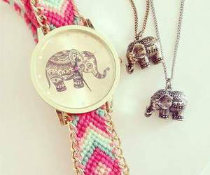elephant, necklace, and watch image