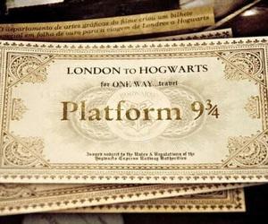 harry potter, hogwarts express, and ticket image