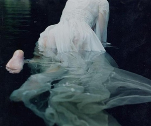 water, girl, and dress image