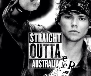 australia, black and white, and 5 seconds of summer image