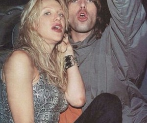 Courtney Love, liam gallagher, and 90s image