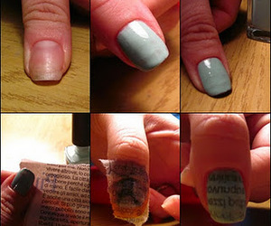 blue, tutorial, and nails tutorial image