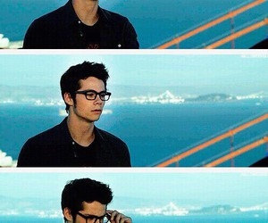 dylan o'brien, teen wolf, and glasses image
