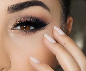 eyeshadow, girl, and glam image