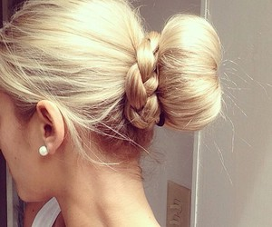 beauty, hairstyles, and blonde image
