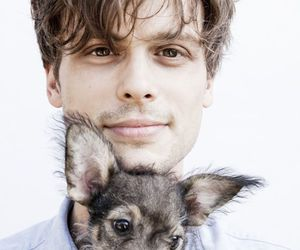matthew gray gubler, criminal minds, and dog image