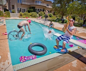 bike, party, and pool image