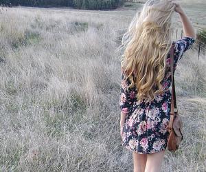 girl, hair, and dress image