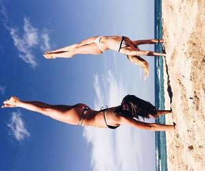 beach, bikini, and tropical image