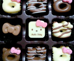 hello kitty, chocolate, and cute image