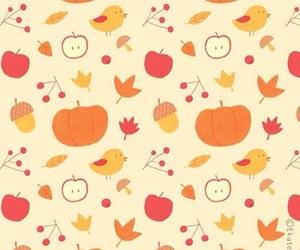 acorn, apple, and bird image