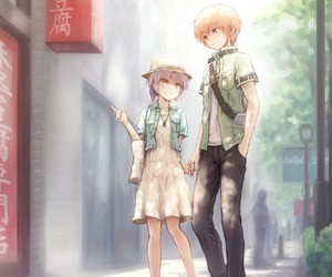 anime, angel beats, and couple image