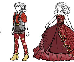 gryffindor, red, and dress image