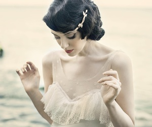 vintage, dress, and beauty image