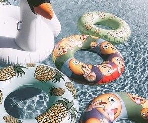summer, pool, and emoji image