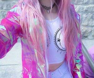 pink, grunge, and hair image