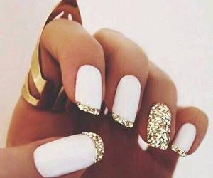 gold, nail, and cute image